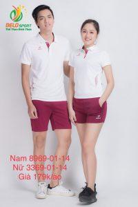 Áo cầu lông nam nữ Donex pro mã 69-01-14 chính hãng màu trắng