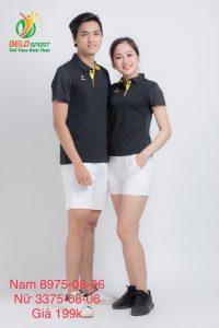 Áo cầu lông nam nữ Donex pro mã 75-08-06 chính hãng màu đen