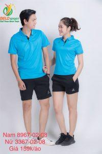Áo cầu lông nam nữ Donex pro mã 67-02-08 chính hãng màu xanh