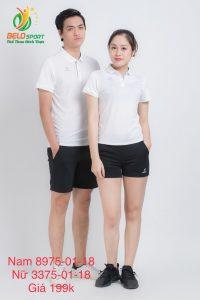 Áo cầu lông nam nữ Donex pro mã 75-01-18 chính hãng màu trắng
