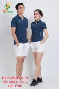 Áo cầu lông nam nữ Donex pro mã 69-12-18 chính hãng màu xanh tím than