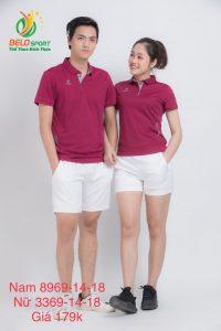 Áo cầu lông nam nữ Donex pro mã 69-14-18 chính hãng màu đỏ đô