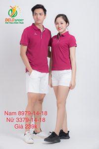 Áo cầu lông nam nữ Donex pro mã 79-14-18 chính hãng màu đỏ đô