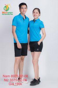 Áo cầu lông nam nữ Donex pro mã 75-02-08 chính hãng màu xanh