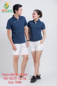 Áo cầu lông nam nữ Donex pro mã 75-12-18 chính hãng màu xanh tím than