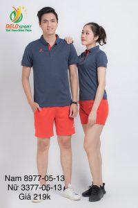 Áo cầu lông nam nữ Donex pro mã 77-05-13 chính hãng màu xám