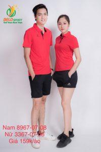 Áo cầu lông nam nữ Donex pro mã 67-07-08 chính hãng màu đỏ