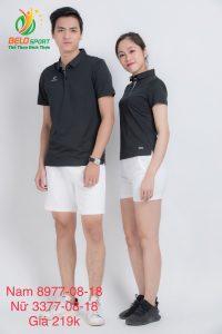 Áo cầu lông nam nữ Donex pro mã 77-08-18 chính hãng màu đen