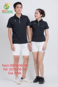 Áo cầu lông nam nữ Donex pro mã 79-08-18 chính hãng màu đen