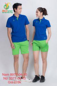 Áo cầu lông nam nữ Donex pro mã 77-04-10 chính hãng màu xanh