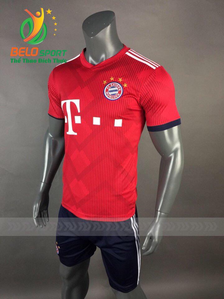 Áo Bóng đá CLB Bayern mè thái cao cấp 2018-2019 màu đỏ