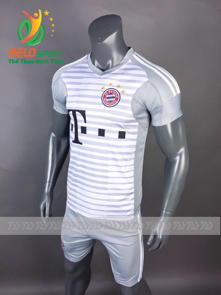 Áo Bóng đá CLB Bayern munich mè thái cao cấp 2018-2019 màu trắng