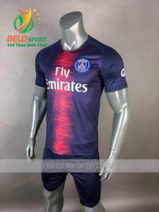 Áo Bóng đá CLB Paris Saint -Germain mè thái cao cấp 2018-2019 màu xanh sọc đỏ