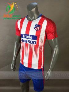Áo Bóng đá CLB Atletico Madrid mè thái cao cấp 2018-2019 màu đỏ sọc trắng