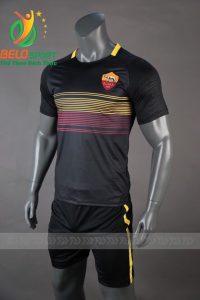 Áo Bóng đá CLB AS Roma mè thái cao cấp 2018-2019 màu đen