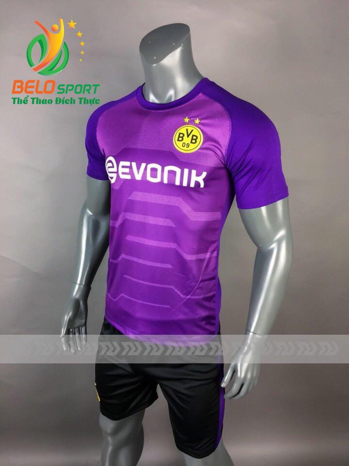 Áo Bóng đá CLB Dortmund mè thái cao cấp 2018-2019 màu tím