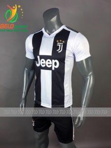 Áo Bóng đá CLB Juventus mè thái cao cấp 2018-2019 màu trắng sọc đen