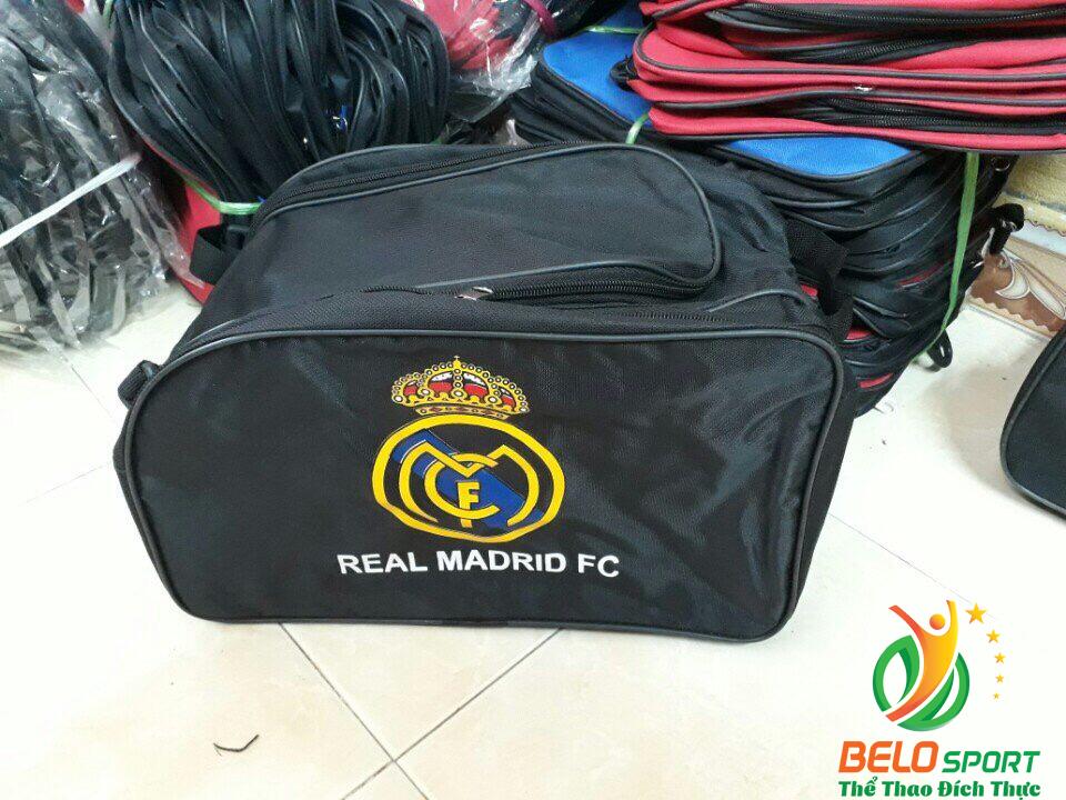 Túi xách bóng đá CLB Real màu đen