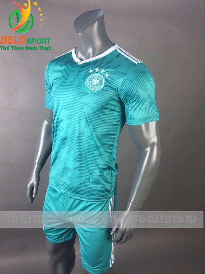 Áo Bóng đá đội tuyển Đức world cup 2018 màu xanh