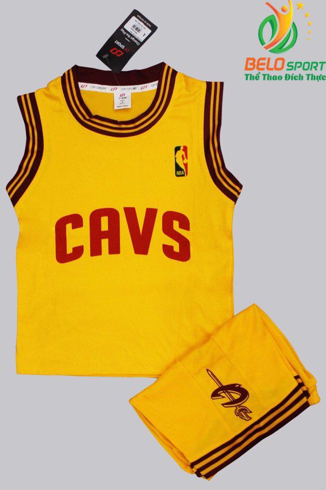 Bộ quần áo bóng rổ CAVS màu vàng giá rẻ