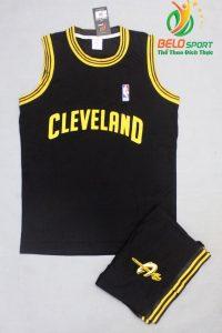 Bộ quần áo bóng rổ Cleveland màu đen giá rẻ