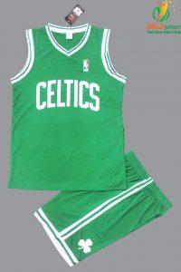 Bộ quần áo bóng rổ Celtics màu xanh lá giá rẻ