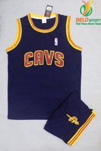 Bộ quần áo bóng rổ Cavs màu tím than giá rẻ
