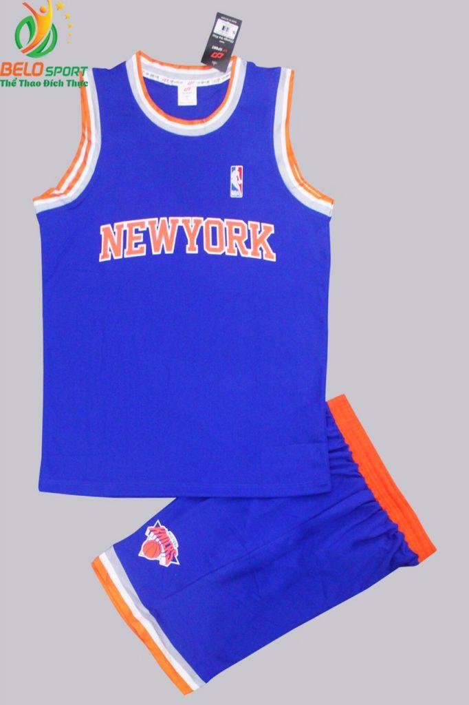 Bộ quần áo bóng rổ Newyork màu xanh dương giá rẻ
