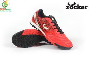 Đặt tên giày là: Giày bóng đá Zocker vảy rồng 2018 da cao cấp xuất khẩu màu đỏ