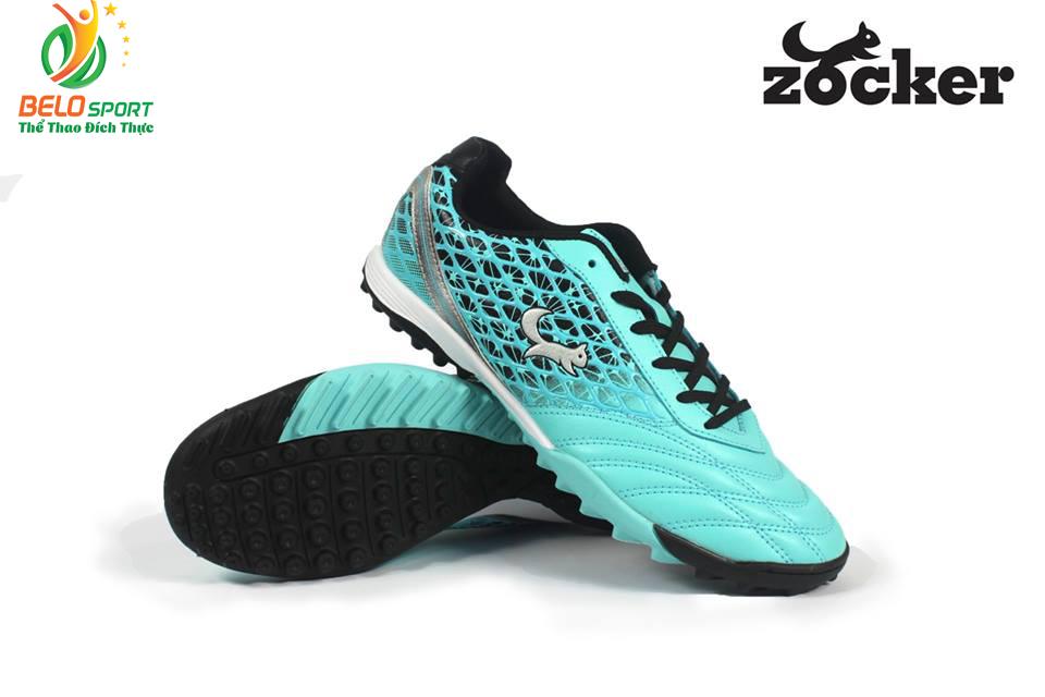 Giày bóng đá Zocker vảy rồng 2018 da cao cấp xuất khẩu màu xanh ngọc
