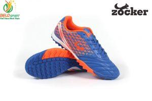 Giày bóng đá Zocker vảy rồng 2018 da cao cấp xuất khẩu màu xanh dương
