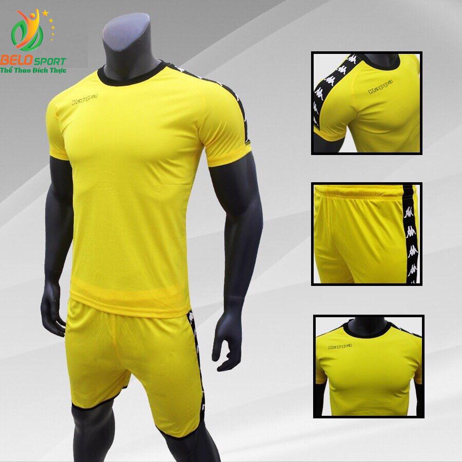 Áo bóng đá Kappa T&T 2018-2019  màu vàng