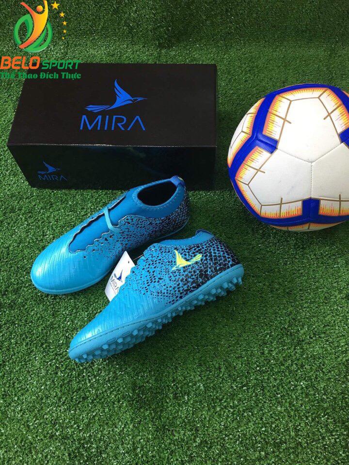 Giày bóng Mira chính hãng M999-02 màu xanh ngọc pha đen