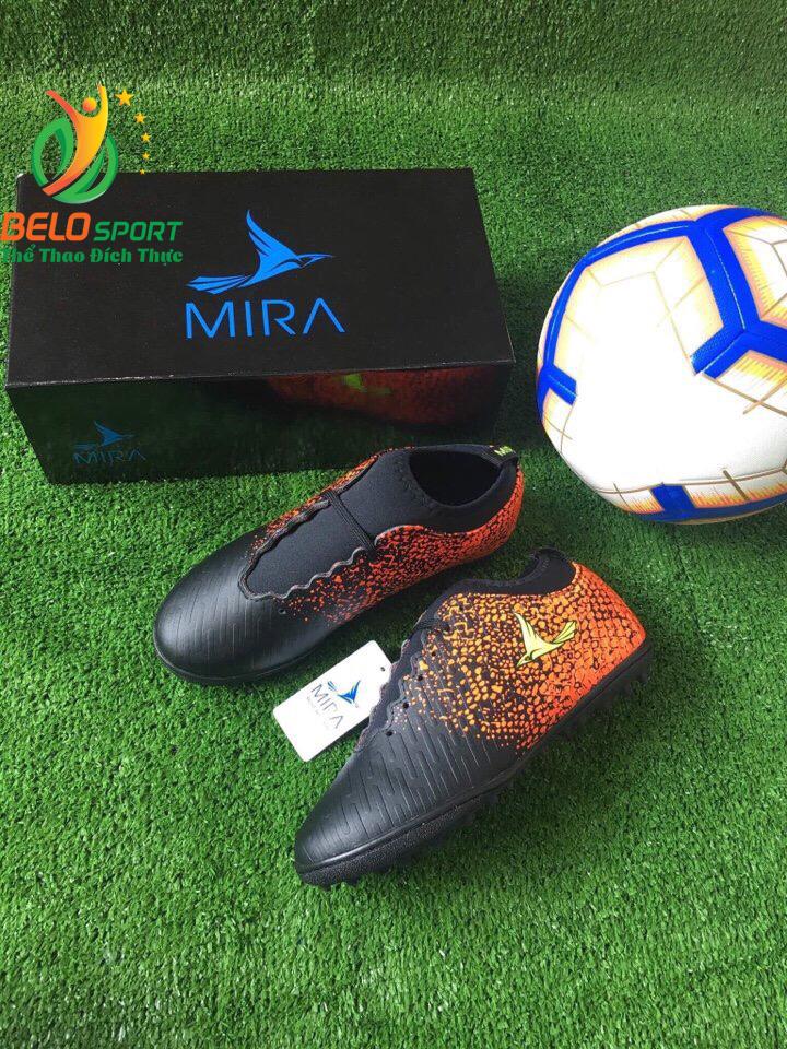 Giày bóng Mira chính hãng M999-02 màu đen pha cam
