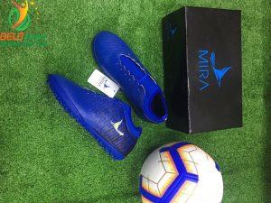 Giày bóng Mira chính hãng M999-02 màu xanh đậm pha đen