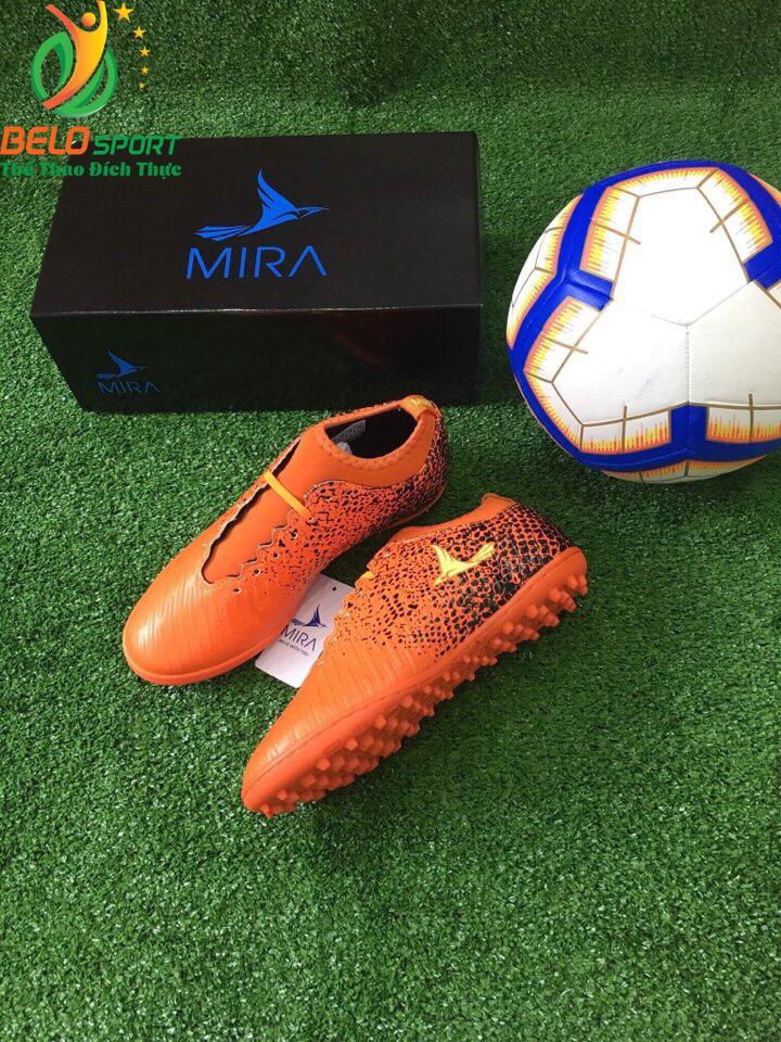 Giày bóng Mira chính hãng M999-02 màu cam pha đen