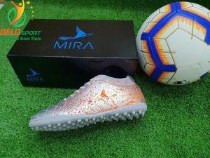Giày bóng Mira chính hãng M999-01 màu bạc pha cam