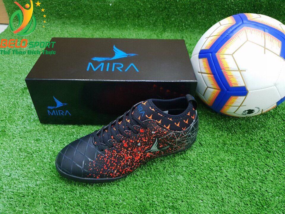 Giày bóng Mira chính hãng M999-01 màu đen pha đỏ