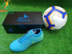 Giày bóng Mira chính hãng M999-01 màu xanh ngọc pha đen