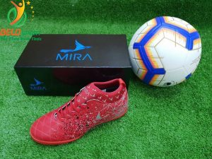 Giày bóng Mira chính hãng M999-01 màu đỏ pha bạc