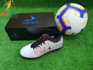 Giày bóng Mira chính hãng M999-01 màu trắng pha đỏ