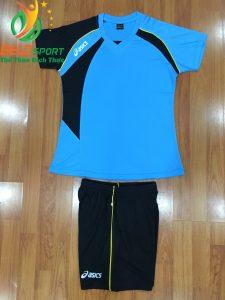 Áo bóng chuyền nữ Asics màu xanh ngọc hàng cao cấp