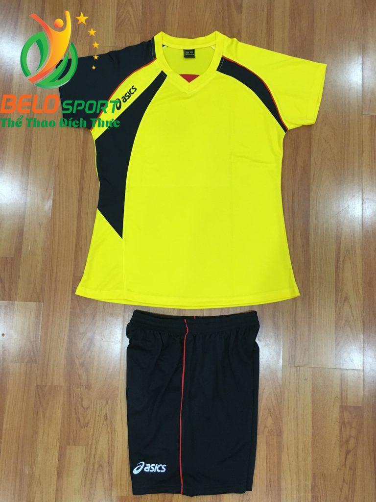 Áo bóng chuyền nữ Asics màu vàng hàng cao cấp
