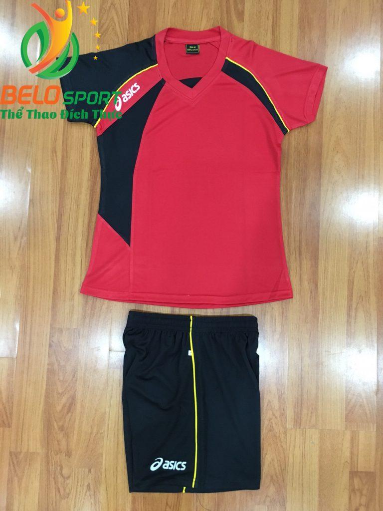 Áo bóng chuyền nữ Asics màu đỏ hàng cao cấp