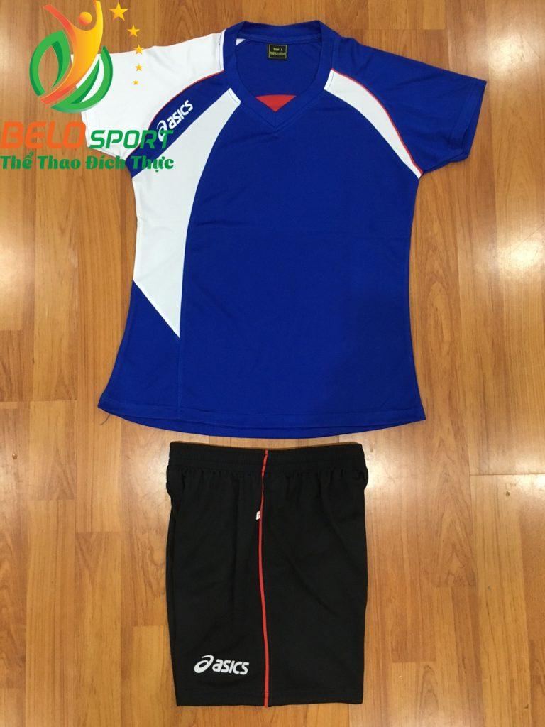 Áo bóng chuyền nữ Asics màu xanh dương hàng cao cấp