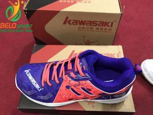 Giày bóng chuyền kawasaki chính hãng k 070 màu tím pha hồng