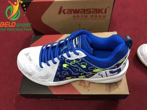 Giày bóng chuyền kawasaki chính hãng k 070 màu trắng pha xanh