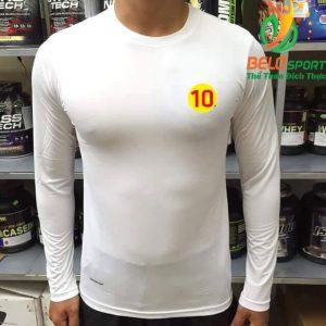 Áo Lót Body Bóng đá Cao Cấp Thun Thái Co Giãn 4 chiều Màu Trắng Số 10