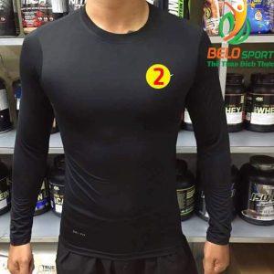Áo Lót Body Bóng đá Cao Cấp Thun Thái Co Giãn 4 chiều Màu Đen Số 2