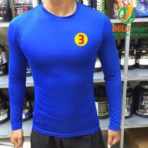 Áo Lót Body Bóng đá Cao Cấp Thun Thái Co Giãn 4 chiều Màu xanh dương nhạt Số 3